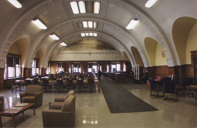 Chicago Illinois - The Auditorium - Top Floor - Former Dining Area - Now Library