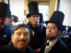 2 Lincolns Selfie