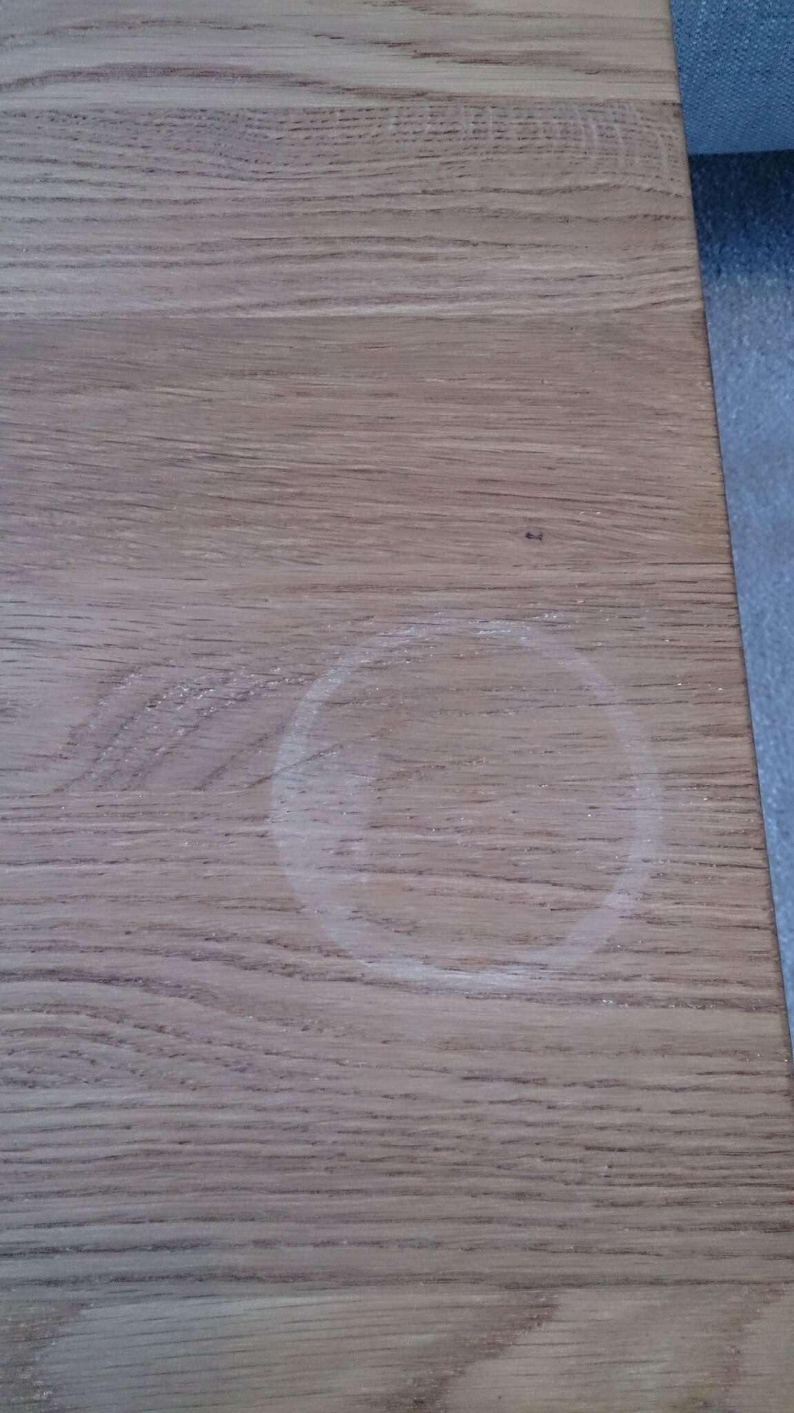 How Do I Fix This? White Ring On Oak Furniture