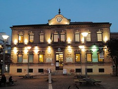 Falconara, Marche, Italy - Mazzini Square, public Library - stitch by Gianni Del Bufalo CC BY 4.0