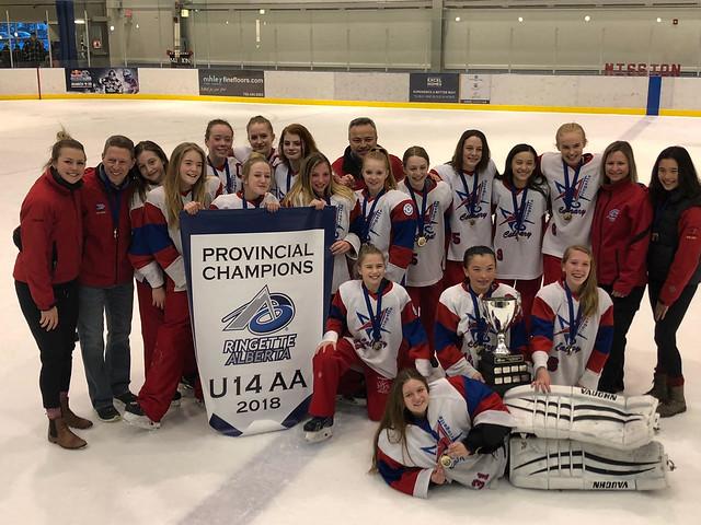 Feb 25, 2018 - Edm AA Provs - U14AA White wins Team Alberta (Gold)!