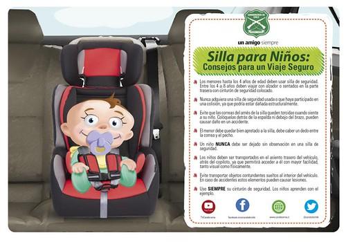 SAN JAVIER; Carabineros advierte a la ciudadanía sobre la utilización de las Sillas de Seguridad Infantil en los vehículos