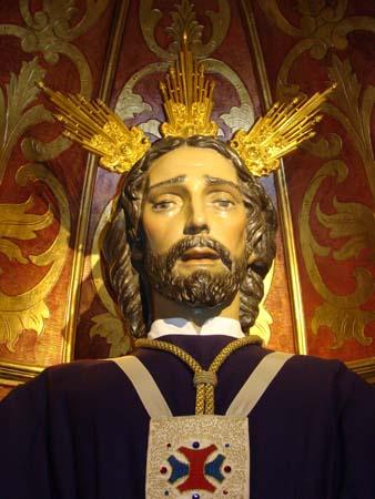 """Pontíficia y Real Hermandad de San Pedro Apóstol, Santo Cristo de las Penas y María Santísima de los Dolores. Vulgo """"San Pedro""""."""