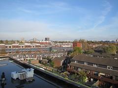 Uitzicht vanaf Nieuwe Voorstad over bestaande en nieuwbouw.