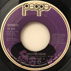 FRED WESLEY & THE JB'S:BACK STABBERS(LABEL SIDE-A)