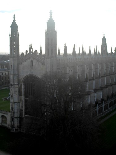 Cambridge - From Great St. Mary's Church - King's College Chapel