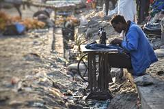 Working on the street in Debark, Ethiopia