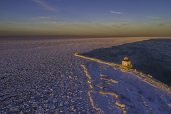 Lake Erie Ice at sunset
