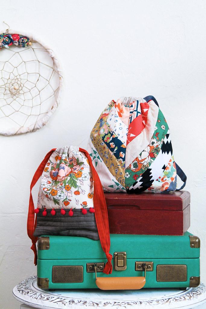 Love Story Drawstring Bags