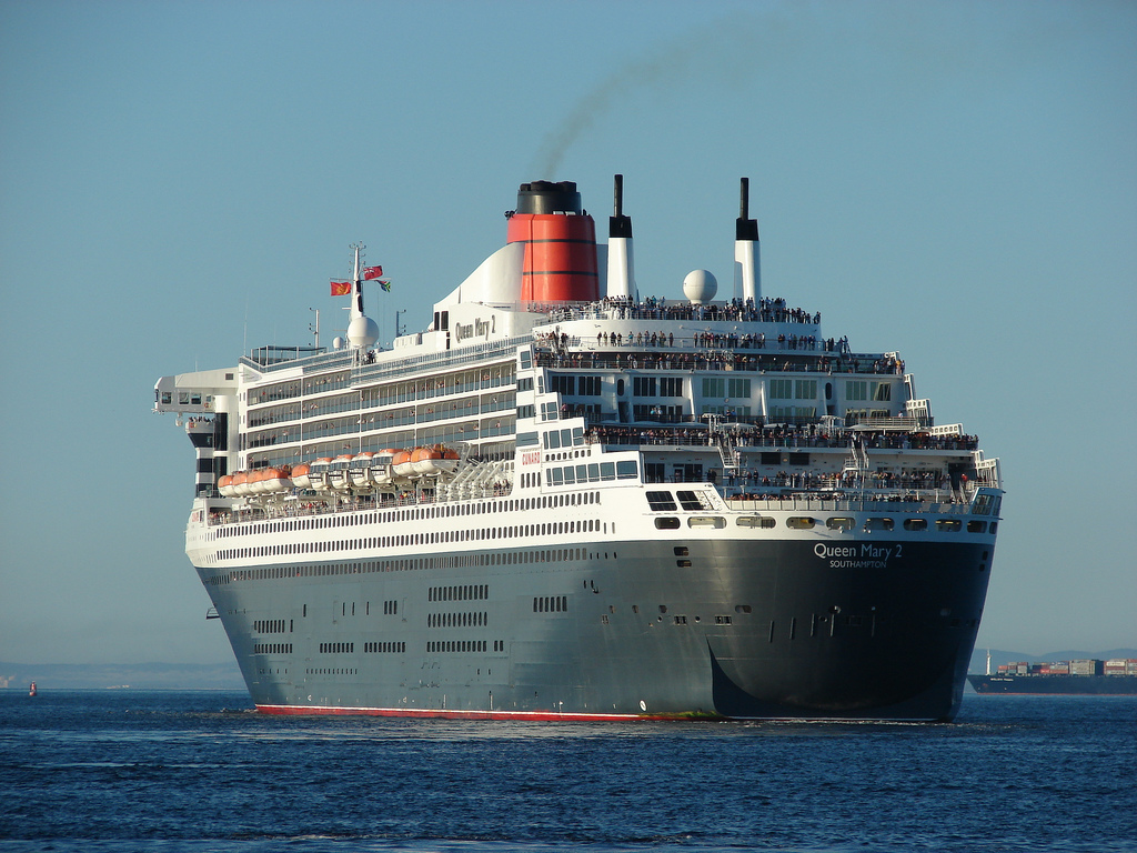 Queen Mary 2 at Cape Town, South Africa, in 2011.