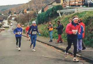 1997.10 Rursee-Marathon, Anstieg in Woffelsbach