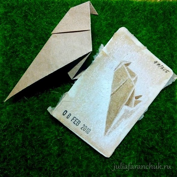 47/365 Tea Bag Art. Paper Bird