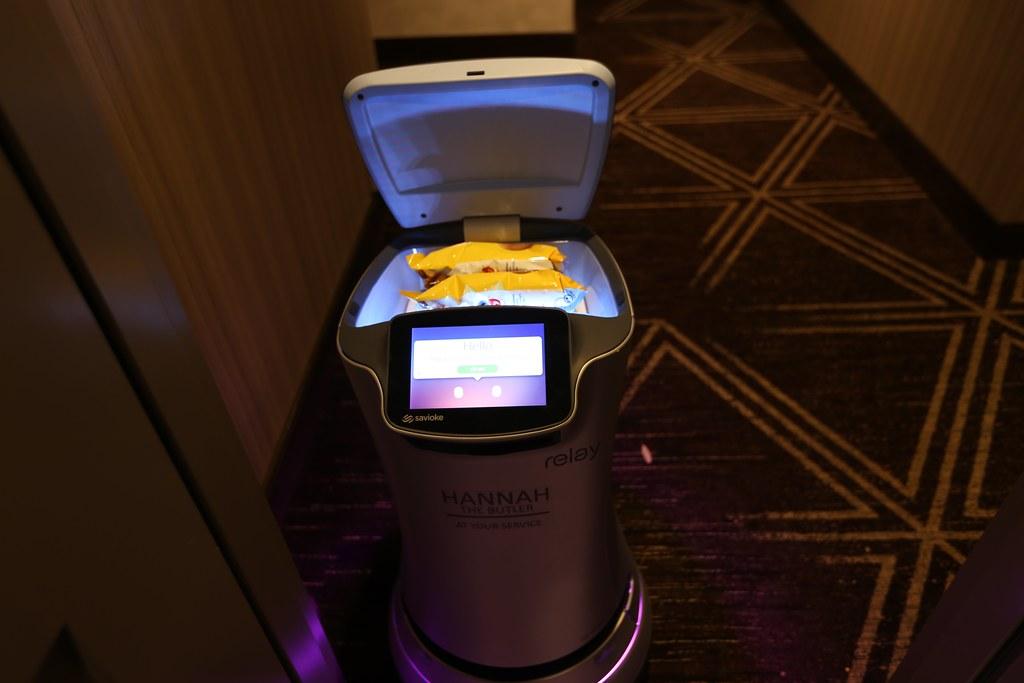 The Hilton H Hotel robot butler Hannah.