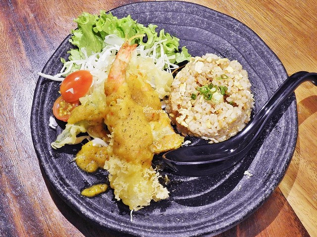 Salted Egg Tempura & Garlic Fried Rice