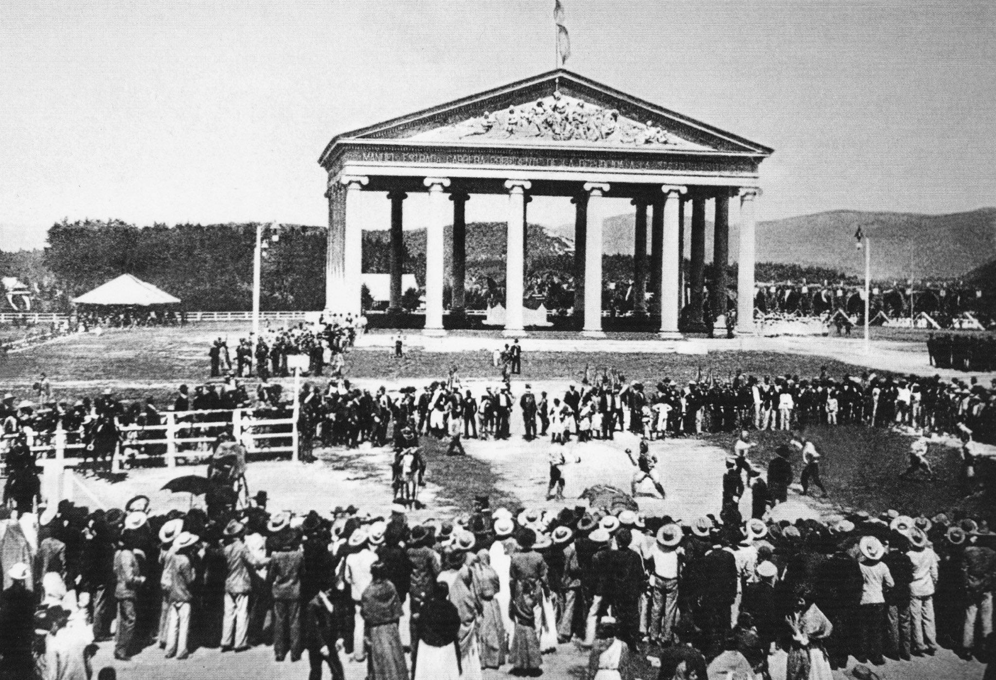 Templo de Minerva, 1901.