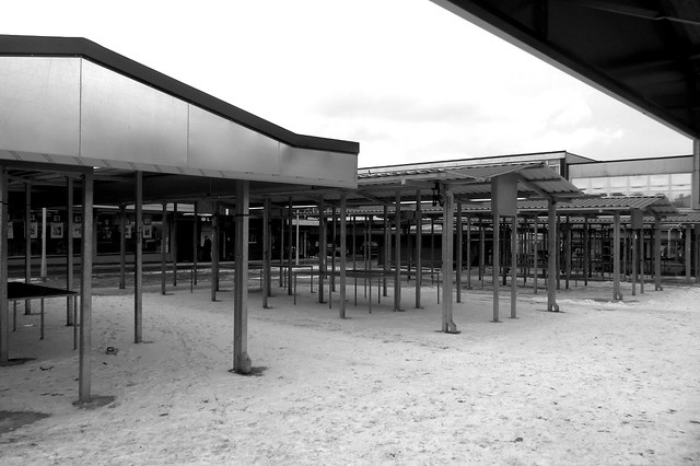Ashton Outdoor Market, Post-Beast of the East (black and white)