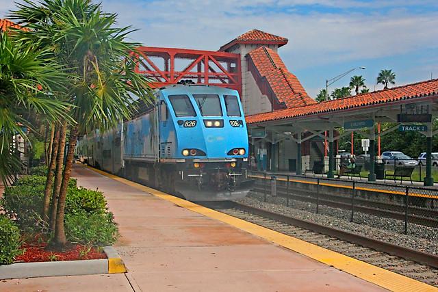 Tri-Rail BL36PH Locomotive Number 826.