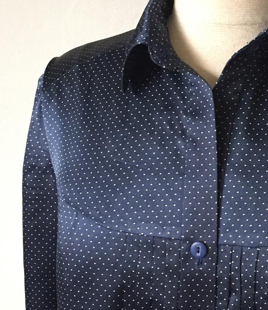 Burda silk blouse sneek peek
