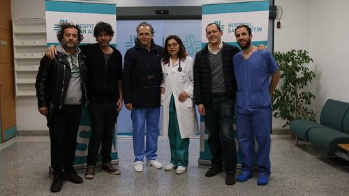 Rodaje película Tu hijo con José Coronado en Hospital San Agustín