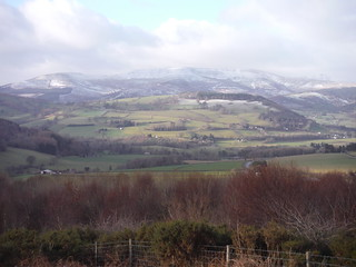 Waun Rydd and Pen y Fan across the Usk Valley