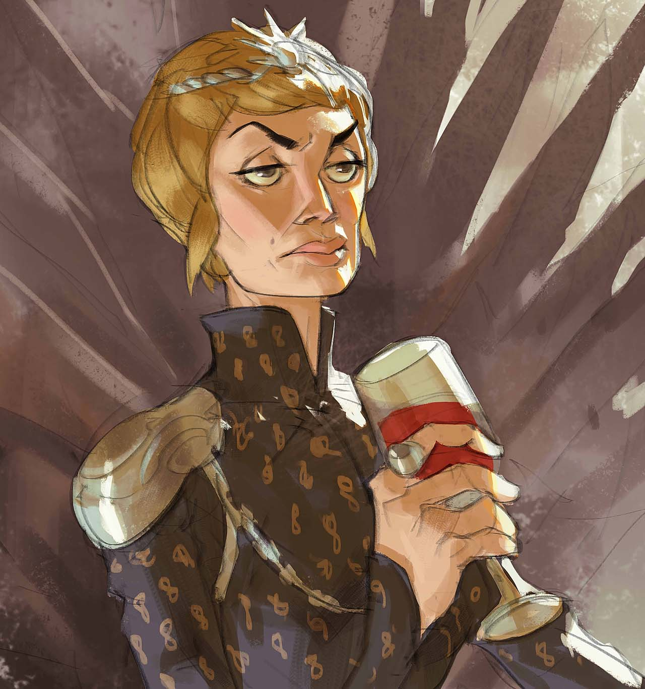 Artist Creates Unique Character Arts From Game Of Thrones – Cersei Lannister Character Art By Ramón Nuñez