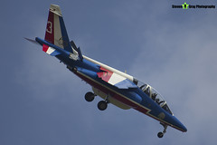 E95 3 F-TERQ - E95 - Patrouille de France - French Air Force - Dassault-Dornier Alpha Jet E - RIAT 2013 Fairford - Steven Gray - IMG_9947