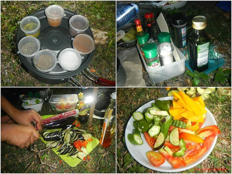 Gourmet outdoor food prep