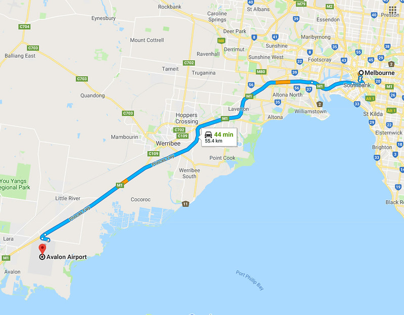 melbourne avalon route