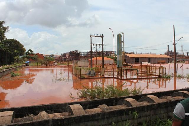 O laudo do instituto de pesquisa apontou que a empresa as bacias de rejeitos da empresa já ultrapassaram o seu limite - Créditos: MInistério Público do Pará/Divulgação