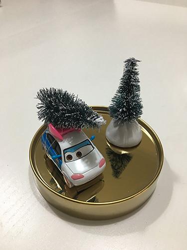 diy árbol de navidad en el coche