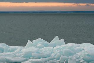 Stack Ice 3/14/08 #duluth #lakesuperior #winter #sunrise #brightonbeach