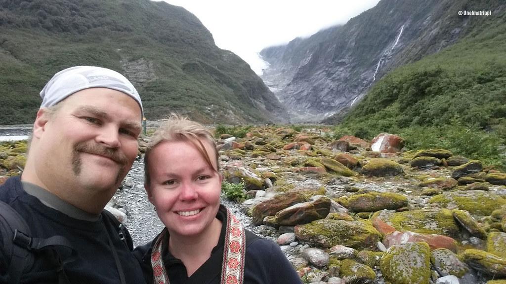 Hemmo ja Jenni Franz Josef Glacierillä, Uusi-Seelanti