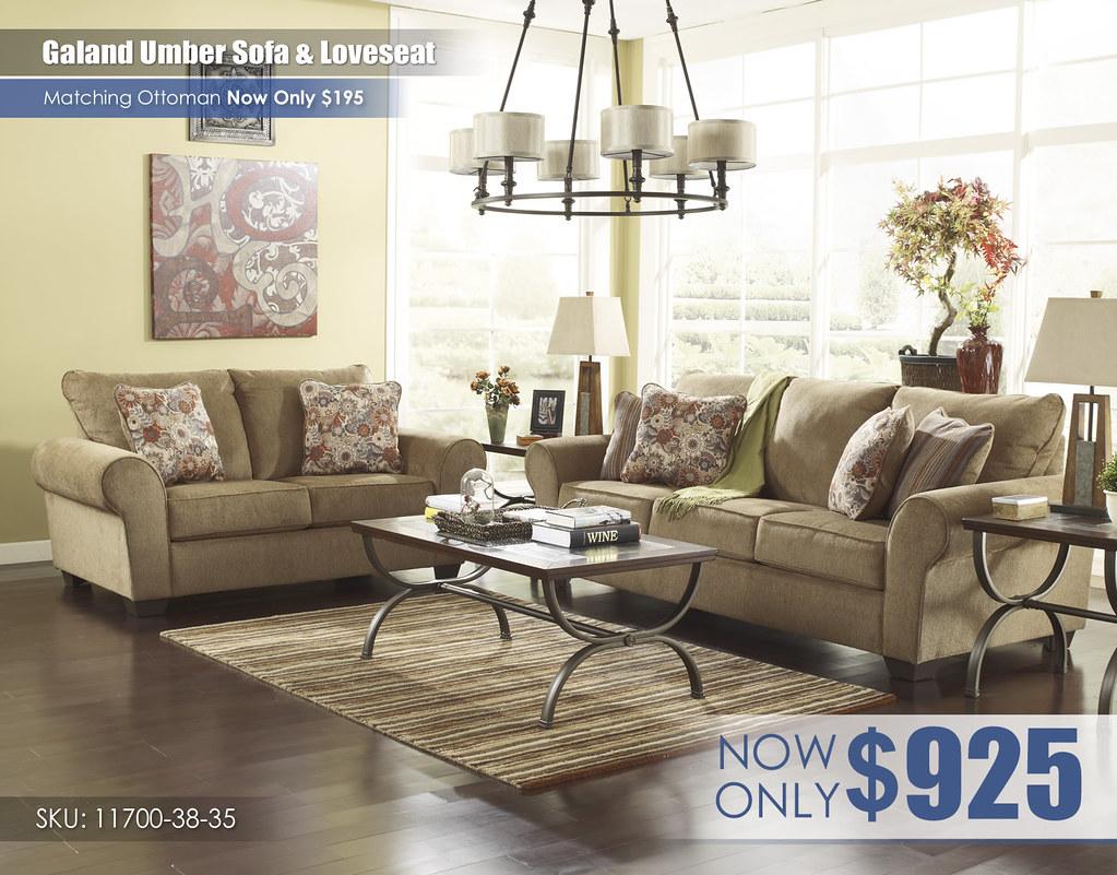 Galand Umber Sofa & Loveseat_11700-38-35-T415