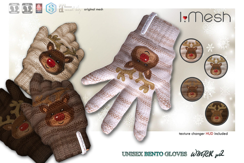UNISEX BENTO GLOVES - WINTER SET 2 - TeleportHub.com Live!
