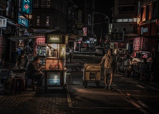 Night at the market, Taipei