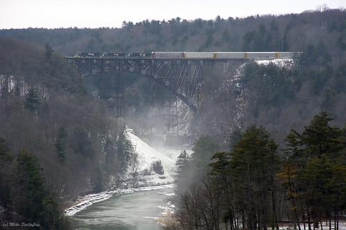 First train, new bridge