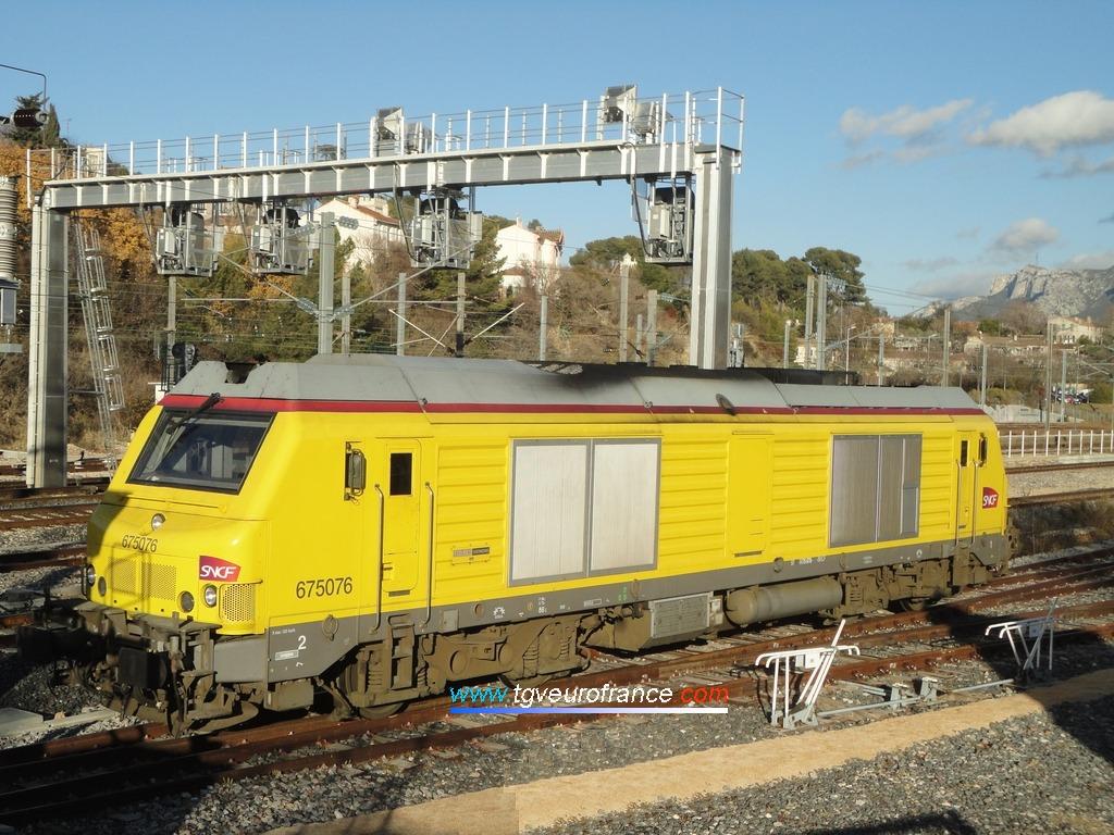 La locomotive thermique BB 75076 Alstom-Siemens de SNCF Réseau