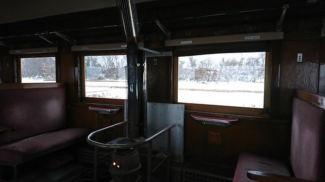 The scenary from the stove train