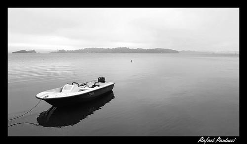 Barco na represa