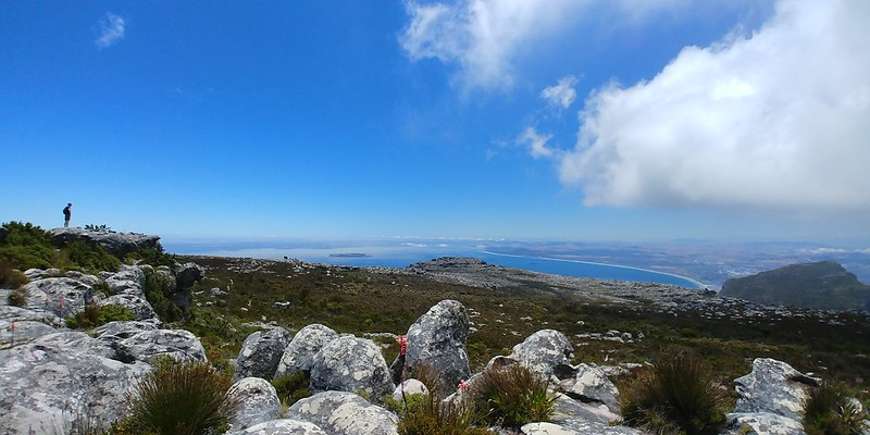 Robben Island and Table Bay from the eastern table