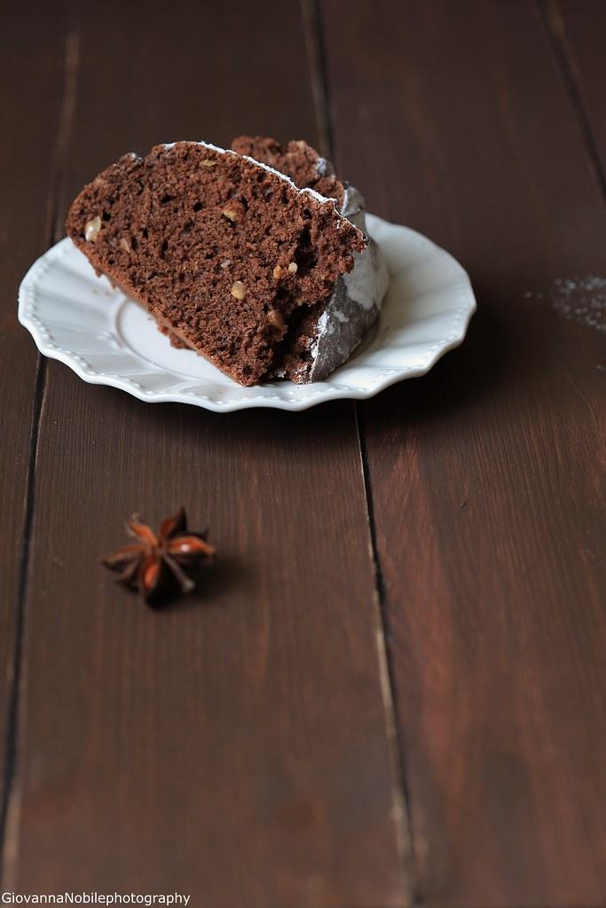 Torta con cacao e nocciole 3