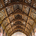 Timber roof of Old Hatfield Palace's Banqueting Hall