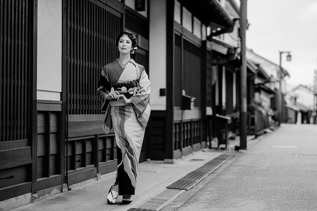 Kimono scenery in Japan