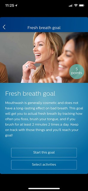 Philips Sonicare iOS App - Goals - Fresh Breath