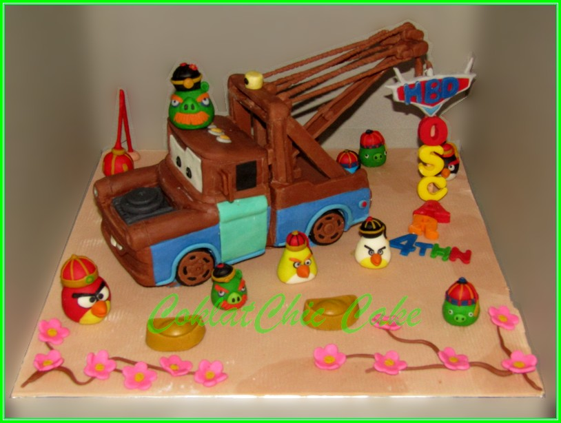 Cake Disney Cars Mater angrybirds 18 cm