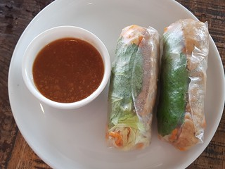 Tofu Rice Paper Rolls at Cafe O'Mai