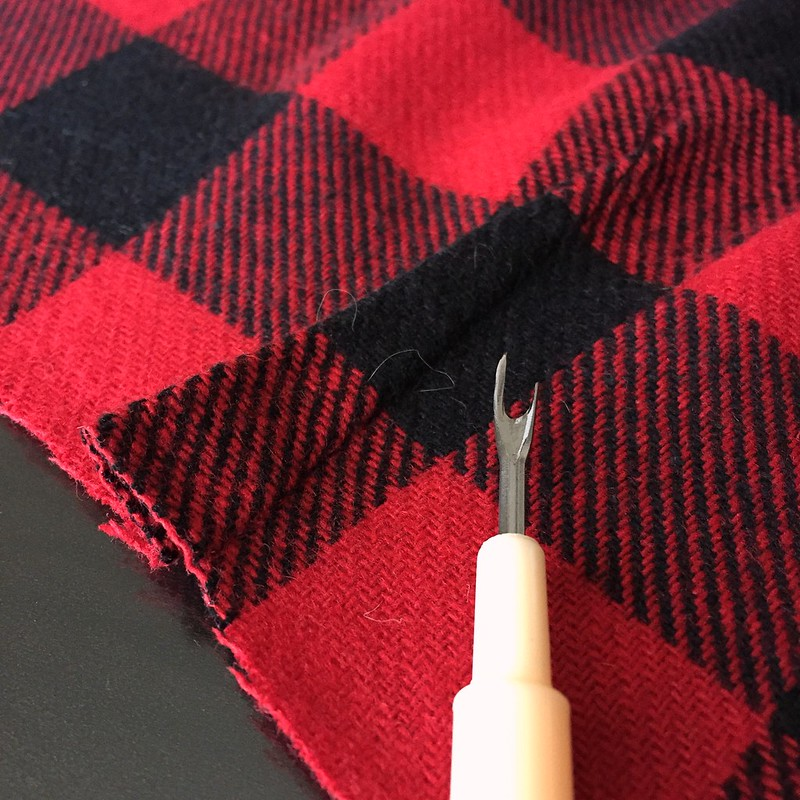 Buffalo Plaid Cowl - In Progress