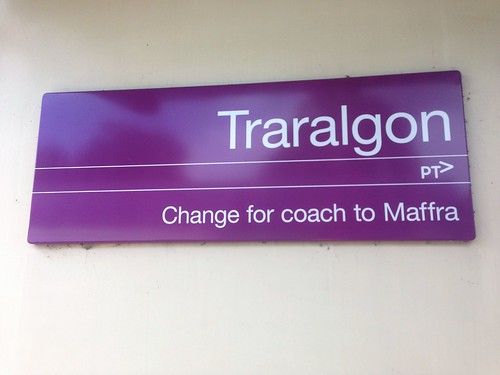 Traralgon Railway Station sign