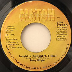 BETTY WRIGHT:TONIGHT IS THE NIGHT(LABEL SIDE-A)