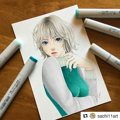 #Repost @sachi11art ・・・ #drawing #illustration #copicsketch #イラスト #コピック #コピックスケッチ ・ Thank you @otakufuel for providing great stuff with great price here in US! I just purchased some Copic Sketch for the first time but now I need some grays! . . We ship to